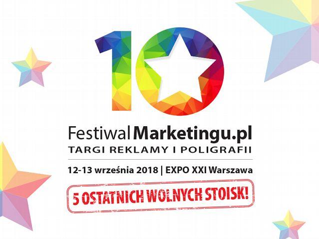 tytulPięć ostatnich, wolnych stoisk na Festiwalmarketingu.pl