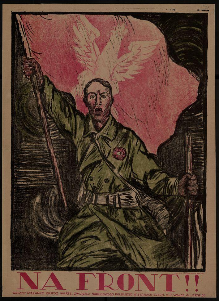 Na Front Plakat Propagandowy 1919 Plakat Polityczny W