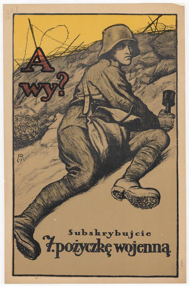 Subskrybujcie 7 Pożyczkę Wojenną Plakat Propagandowy