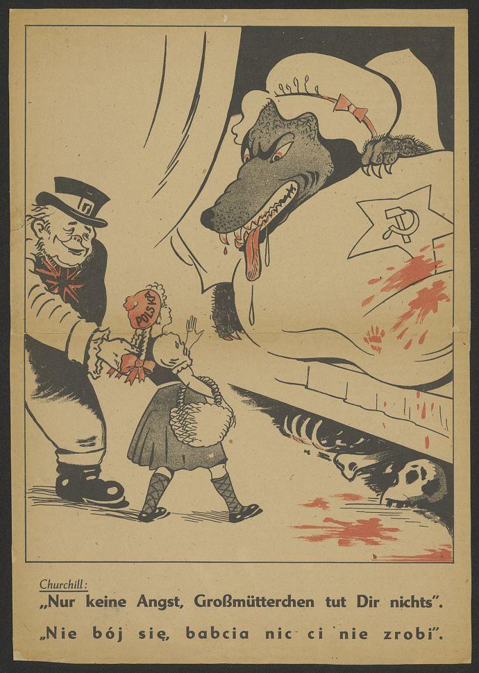 Churchill I Polska Plakat Propagandowy Lata 40 Te