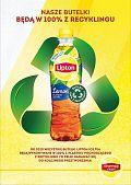 Lipton Ice Tea wprowadza do obiegu w Polsce butelki wykonane w 100% z recyklingu