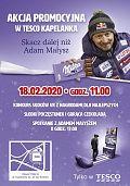 """Adam Małysz na wydarzeniu w krakowskim Tesco w ramach kampanii """"Milka. Sercem z Naszymi"""""""