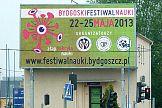 Bydgoski festiwal nauki promowany na telebimach