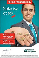 Kampania Credit Agricole promuje loterię promocyjną dla kredytobiorców