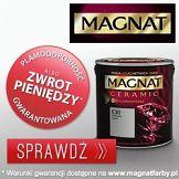 Plamoodporność gwarantowana w kampanii farb Magnat Ceramic
