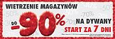 Dywanowe wietrzenie magazynów w sklepach Komfort z kampanią reklamową
