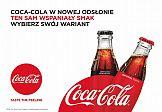 Wybór wariantów w nowej kampanii Coca-Cola
