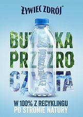 Pierwsza w Polsce przezroczysta butelka – bez etykiety i w 100%% z recyklingu
