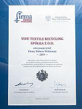 Vive Textile Recycling Firmą Dobrze Widzianą 2019 Business Centre Club