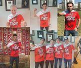 Gwiazdy sportu i klienci Lotosu w specjalnych koszulkach kibica