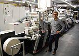 Trzy maszyny Mark Andy w drukarni Orion Znakowanie Towarów