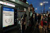 Cyfrowe citylighty na przystankach w Warszawie