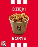 KFC dziękuje Borysowi