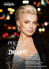 Metamorfoza Katarzyny Sokołowskiej w kampanii L'Oréal Professionnel