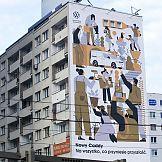 Volkswagen Caddy 5 - niecodzienny mural w centrum Warszawy