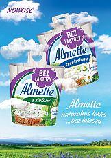 """""""Bez laktozy. Sama przyjemność!"""" - Nowa kampania Almette"""