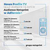 Netsprint Audience z nowymi profilami odbiorców telewizji