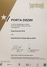 Porta Drzwi z tytułem Superbrands 2018
