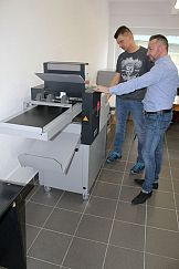 Bigówko-falcerka Multigraf Touchline CF- 375 w drukarni Technodruk