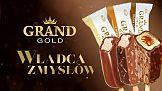 Koral z reklamą lodów Grand Gold