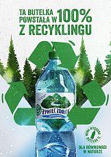 Nowy format wody niegazowanej Żywiec Zdrój w opakowaniu z recyklingu