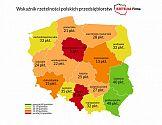 Geograficzny rozkład rzetelności polskich przedsiębiorstw