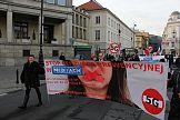 Cenzura prewencyjna w PAP: protest pod Polską Agencję Prasową