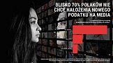 Blisko 70%% Polaków nie chce nałożenia nowego podatku na media