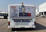 Greckie autobusy zdobi znaczek Poczty Polskiej