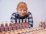 Tatuaż Eda Sheerana na butelkach ketchupu Heinz