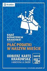 """Kampania """"Bądź bohaterem Krakowa. Płać podatki w naszym mieście"""""""