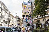 Ekologiczny mural Lilou w ścisłym centrum Warszawy