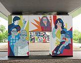 """Mural z """"Kobietami Wolności"""" w ramach akcji """"Wysokich Obcasów"""""""