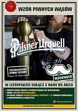 Wzór piwnych wąsów: Pilsner Urquell wspiera akcję Movember