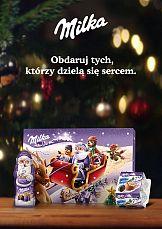 Serce w świątecznej kampanii Milka