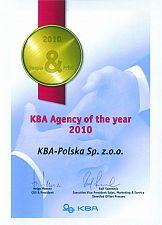 KBA-Polska wyróżniona''KBA Agency of the Year 2010''