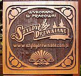 Akcja próbek z logo firmy w szyldydrewniane.com.pl