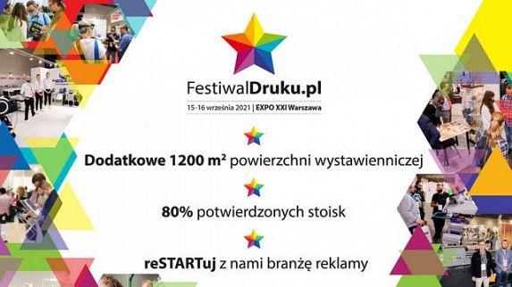 Kolejni Top dostawcy i dodatkowa przestrzeń targowa – Festiwaldruku.pl rośnie w siłę