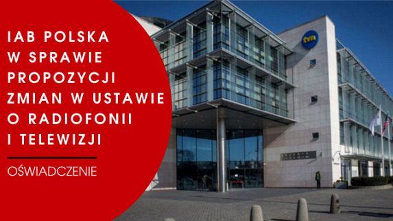 IAB Polska w sprawie propozycji zmian w ustawie o radiofonii i telewizji