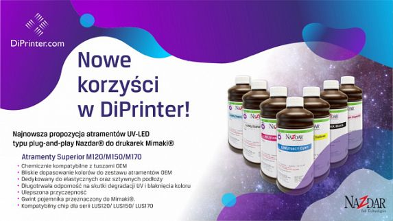 Nowa seria atramentów Superior M do drukarek Mimaki w DiPrinter
